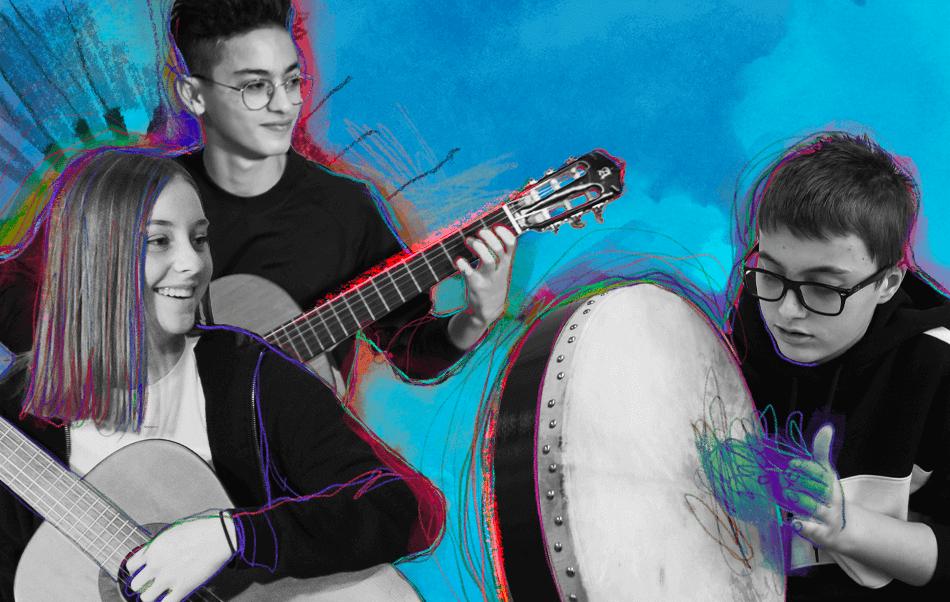 Musica d'assieme: chitarra e percussioni