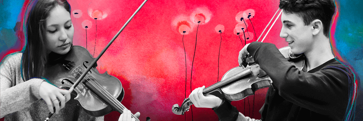 I ragazzi del corso di violino